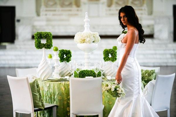 Бракосочетание в зеленом стиле
