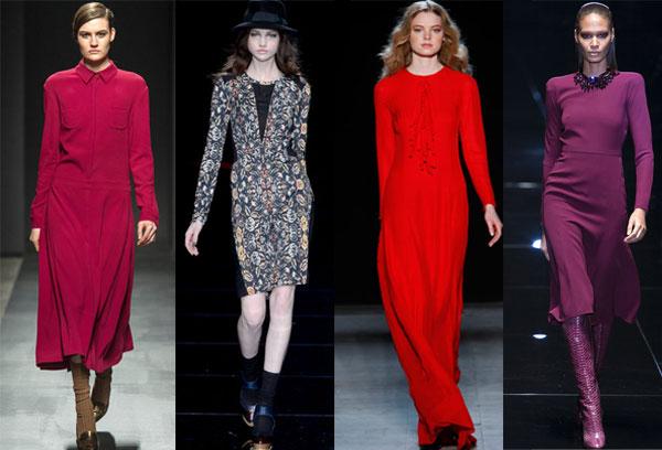 Модные платья: осень/ зима 2014