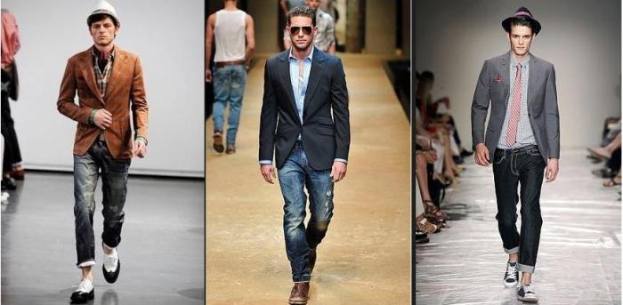 Повседневный мужской стиль в одежде для работы