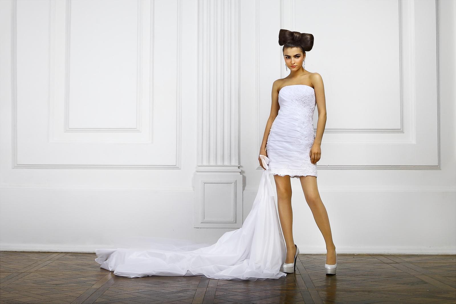 Советы по выбору короткого свадебного платья