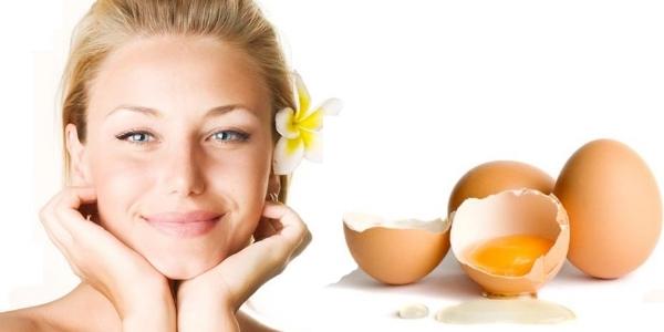 Как правильно сделать маску из яйца для лица